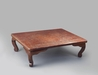 6413 A Wakasa nuri lacquer table with red and black lacquer interspersed w