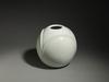 6990 A porcelain vase of lotus form. Signed: Goun Japan 20th century Shōw