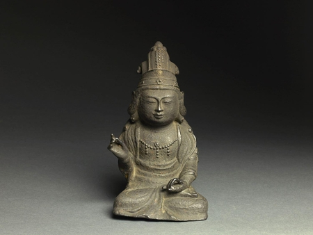 7096 An iron figure of a Kwanum (Kannon Bodhisattva)