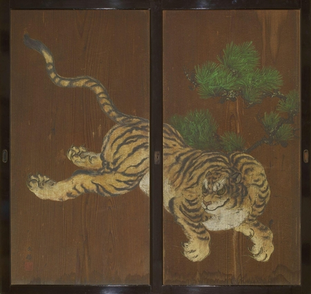 7103 A pair of sugido (cedar wood doors)