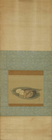 A silk on paper kakemono (hanging scroll)